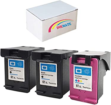 3PK For HP 61 XL Black Color Ink ENVY 4500 4501 4502 5530 5531 5535 CH563//4WN