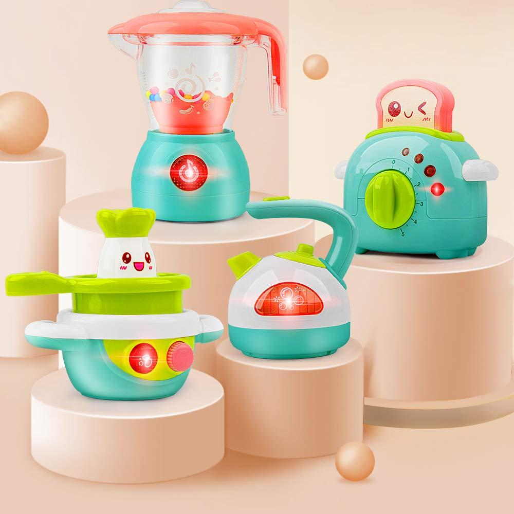 Gizmovine Kitchen Set For Girls Toys Mini Kids Play Kitchen Set 4pcs Play Kitchen Accessories Pretend