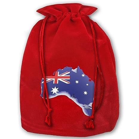 Christmas Gift Bags Australia.Amazon Com Christmas Drawstring Gift Bags Australia Santa