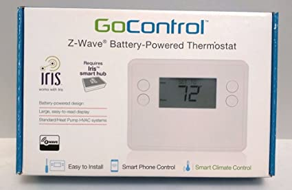 TopOne New Gocontrol GC TBZ48L Z Wave Battery Powered Thermostat