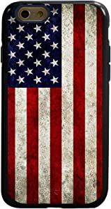 Guard Dog Hybrid Phone Case for iPhone 6 / 6s with Old Glory Design, Black with Dark Blue Silicone