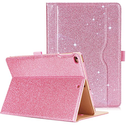 ProCase iPad 9.7 Case 2018/2017 iPad Case - Stand Folio Cover Case for Apple iPad 9.7 inch, Also Fit iPad Air 2 / iPad Air -Glitter Pink ()
