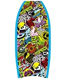 Osprey Body Board Leash Slick Crescent Tail XPE Boogie Board, Sticker Design, Blue, 33 Inch