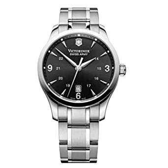 80681e7aab5bb Image Unavailable. Image not available for. Color: Victorinox Swiss Army  Men's 241473 Alliance Black Dial Stainless Steel Watch
