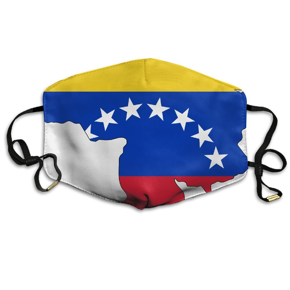 Yyyuskdk Venezuela Flag Map Fashion Adult Recycling Mouth Mask Respirators For Man And Woman by Yyyuskdk