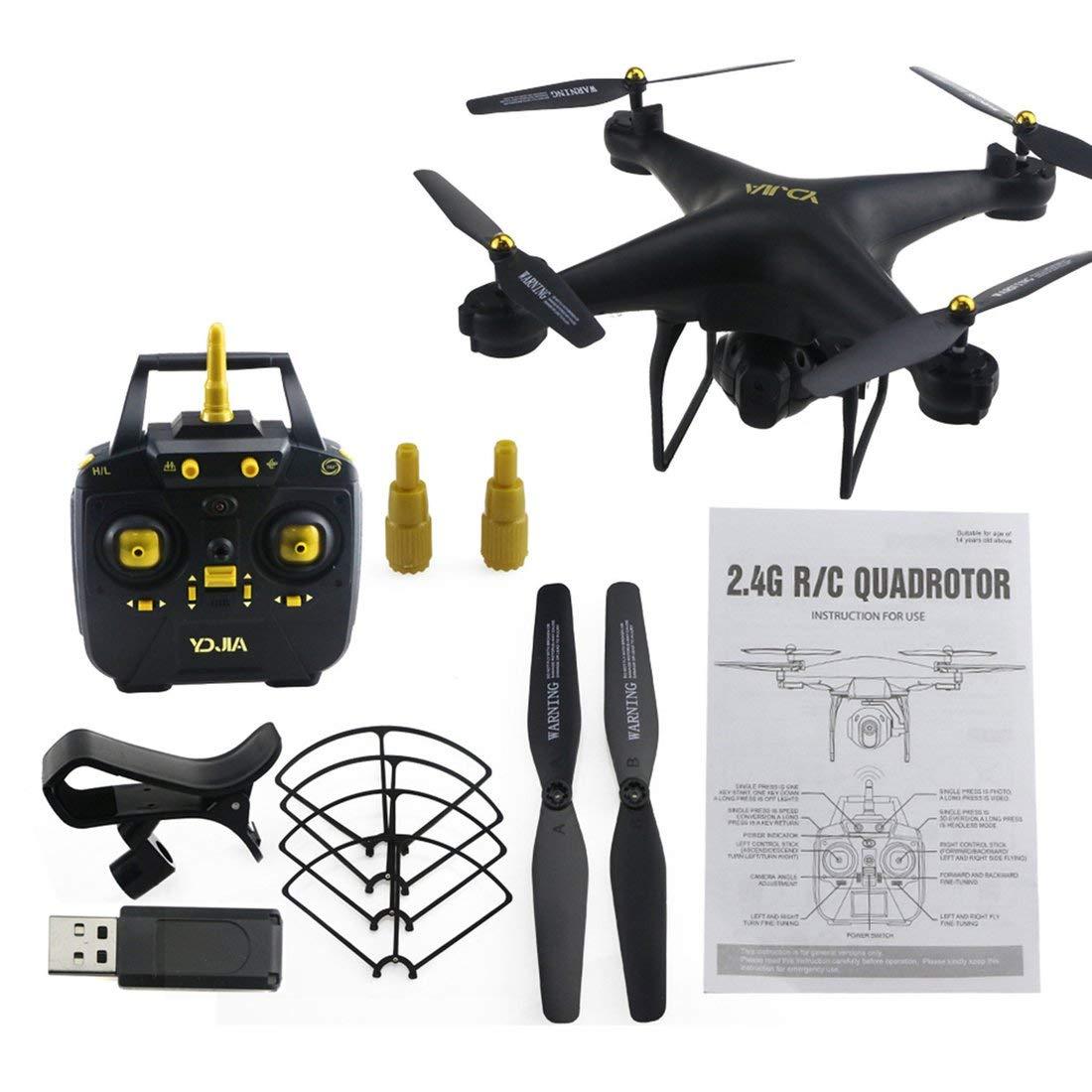 Formulaone D68W-3 2.4G RC Selfie Smart Drohne Quadcopter Flugzeug UAV mit 720 P WiFi FPV Live Video Kamera Höhe Halten 360 ° Flips - Schwarz