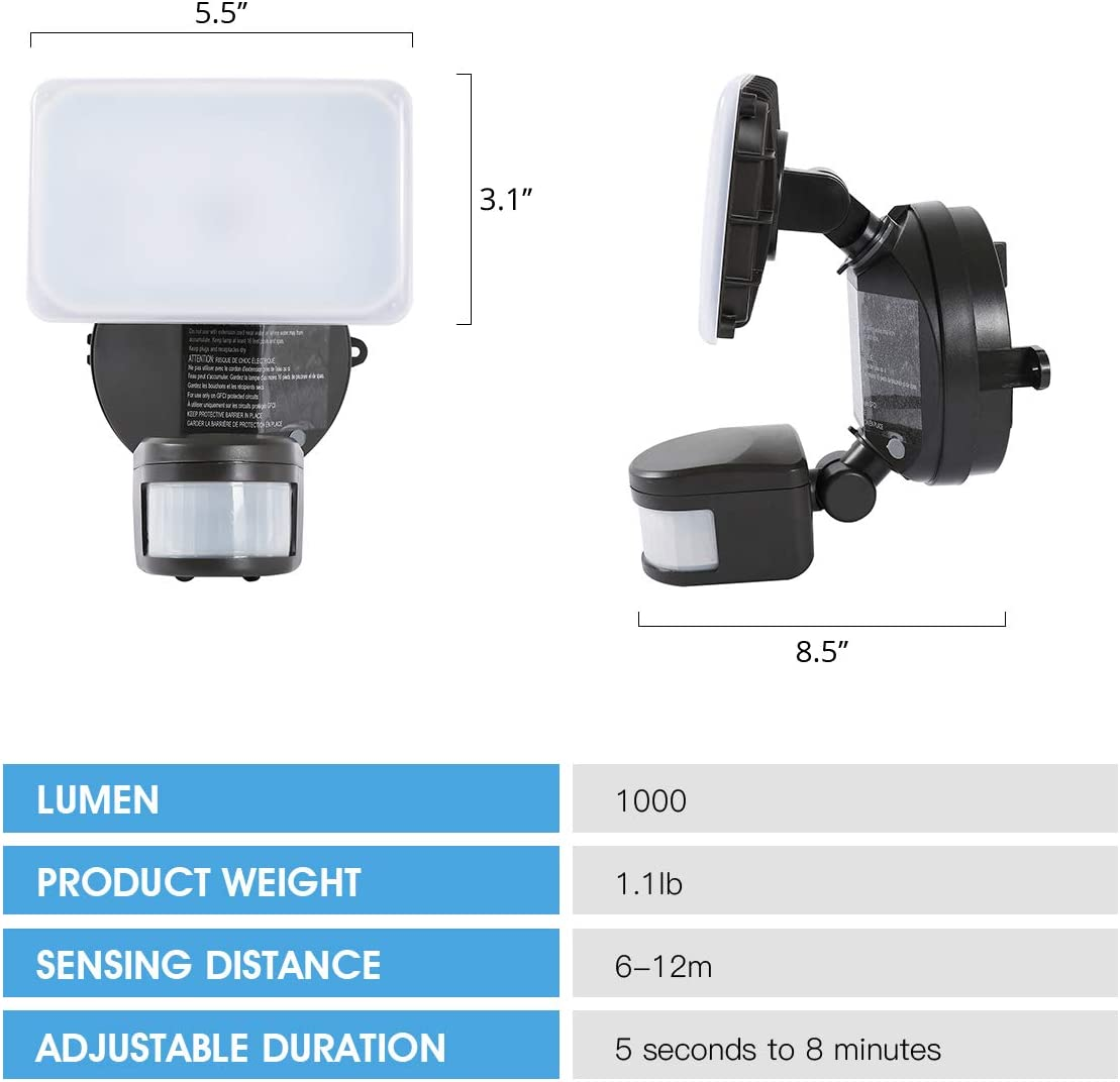 LUXPERT Motion Sensor Security Light