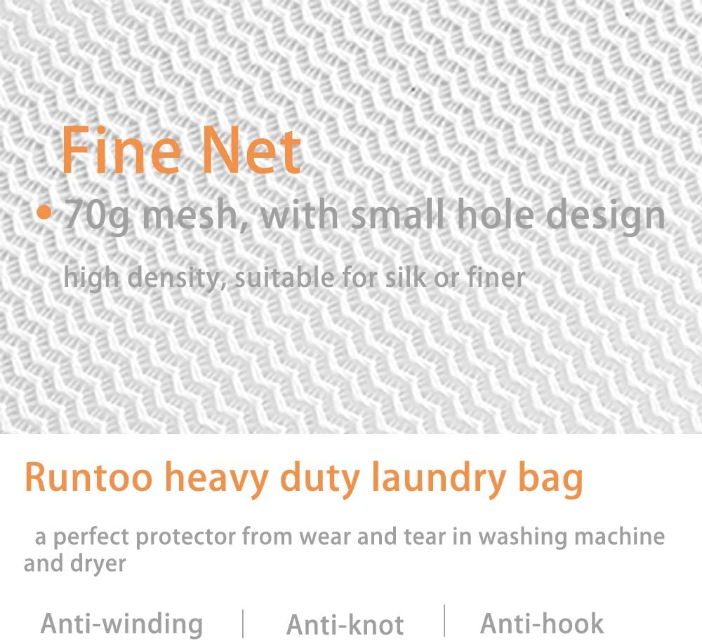 Runtoo 2 Pack 36 x 36 inches Extra Large Laundry Bag Delicates Wash Bags Camp Travel Heavy Duty Zipper Big Net Sweater Curtain Bedding Robes Blanket Jumbo Toys Organizer