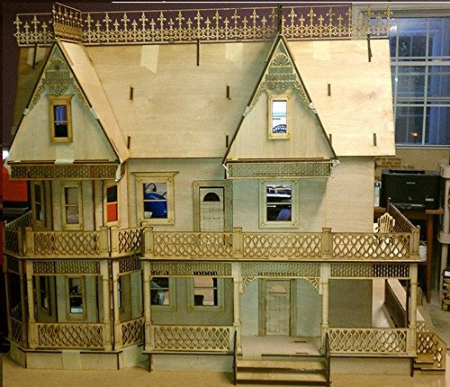 Melody Jane Dollhouse Victorian Gingerbread Farmhouse 1:12 Scale Lazer Cut Flat Pack Kit