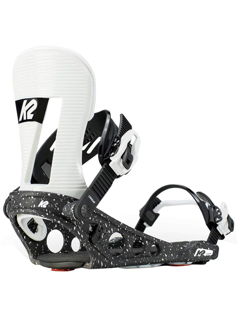 K2 Lineup Snowboard Bindings White//Black Mens
