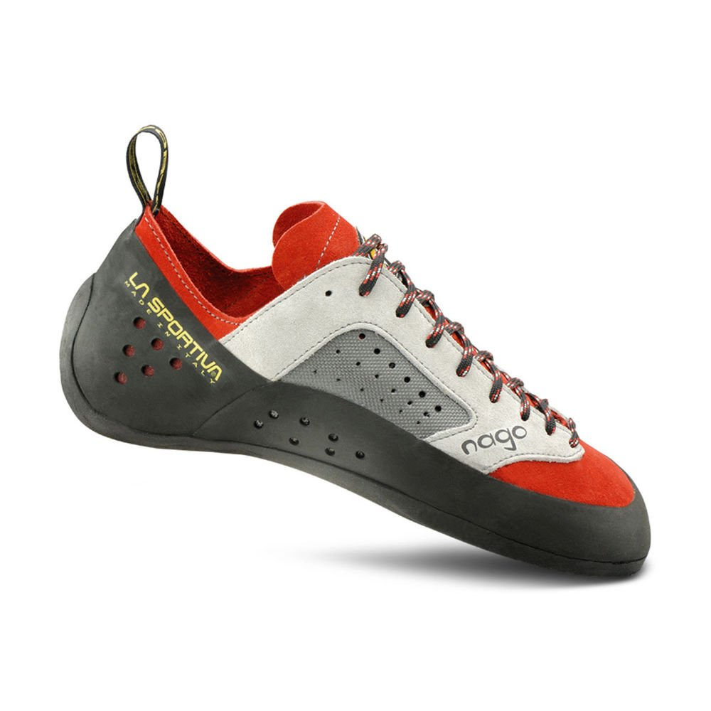 La Sportiva Nago Rock Shoe - Men's Climbing shoes 45 Red by La Sportiva