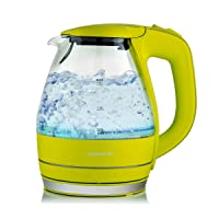 Deals on Ovente Electric Hot Water Portable Glass Kettle 1.5 Liter
