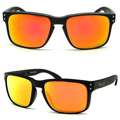 b143bc470e5 BNUS Italy made Classic Sunglasses for women men Corning Real Glass Lens w. Polarized  Option (Frame  Matte Black