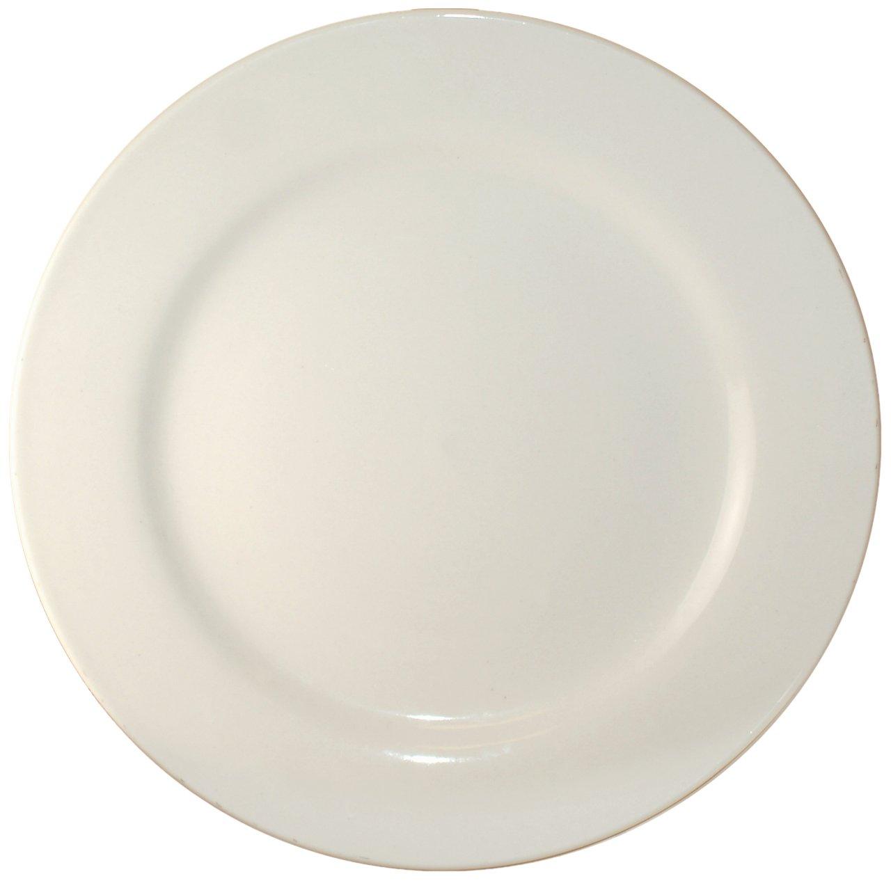 ITI-RO-21 Roma 12-Inch Plate, 12-Piece, American White by ITI