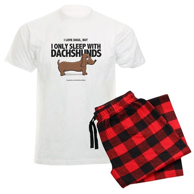 50625ffa61d1 CafePress - I Only Sleep With Dachshunds - Unisex Novelty Cotton Pajama  Set