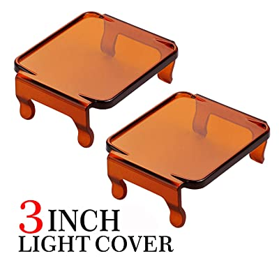 Light Bar Pods Covers Amber AKD Part 3 Inch Off Road Driving Lights PC Protective Lens Covers Light Bar Pods Covers Work Lights LED Cubes Jeep Fog Lights Covers for SUV ATV UTV Boat: Automotive