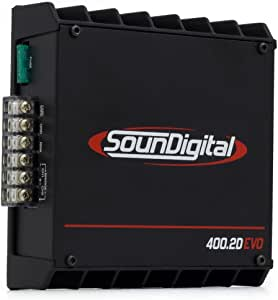 SounDigital 400.2D EVO 400W RMS 2-Channel Class-D Full-Range Amplifier - 4 Ohm