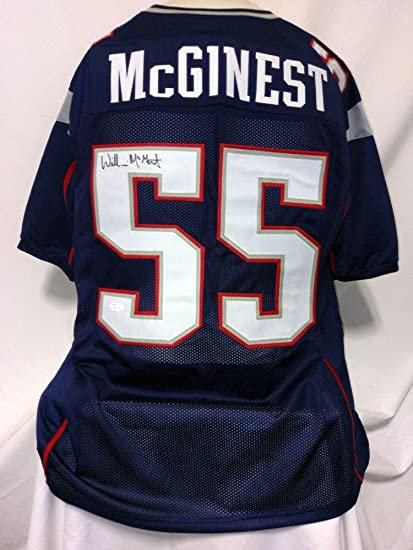 new product 8e163 a5201 Willie McGinest Signed Jersey - Custom Blue - JSA Certified ...