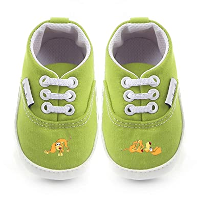 Animal Baby Boys Girls Canvas Toddler Sneaker Anti-slip First Walkers Shoes 0-18 Months Dog-65