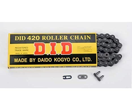 114-Links Standard Non O-Ring Chain with Connecting Link RK Racing Chain M420-114 420 Series
