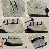 6 Pcs Stone Splitter and 1 Pcs Rotary Hammer