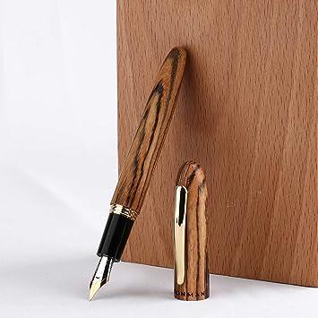 MOONMAN M6 Handcraft Black Sandalwood Fountain Pen Fine// Medium// Bent Nib Gift