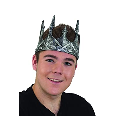Halloween/Costume Accessory - Adjustable Foam Kings Crown (Silver): Clothing