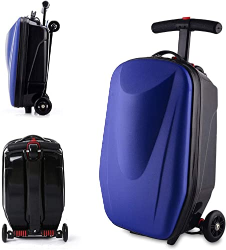 Luggage Scooter, 20 Scooter Suitcase for Airport Travel Business School Dark Blue