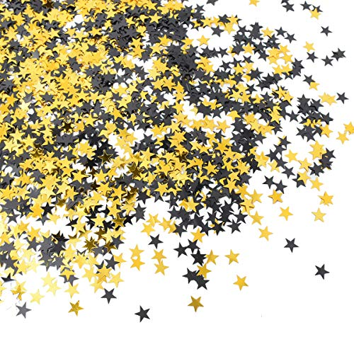 - Star Confetti Black Gold Shiny Table Confetti for Wedding Party Holiday Seasons Decorations DIY Crafts 50g (About 4100 Pcs)