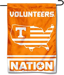 College Flags & Banners Co. Tennessee Volunteers Garden Flag with USA Stars and Stripes Nation