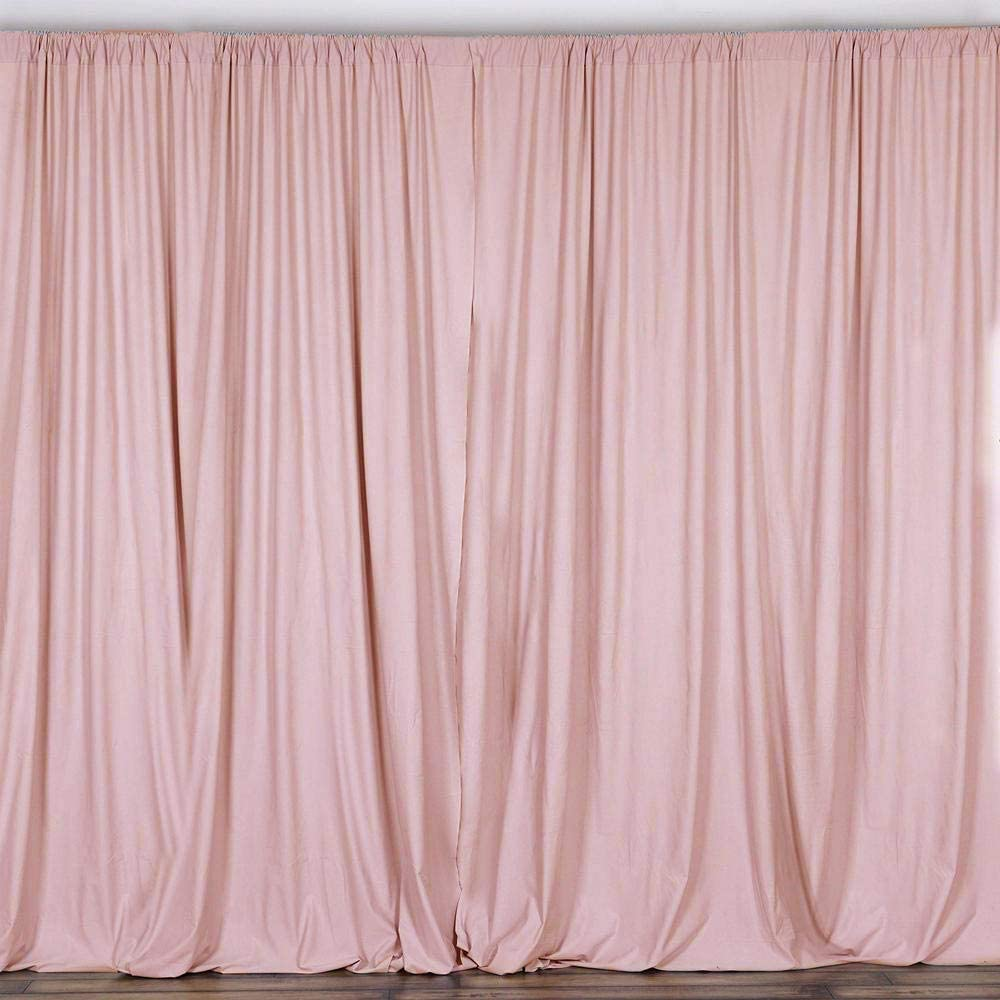 AK TRADING CO. 10 feet x 10 feet Polyester Backdrop Drapes Curtains Panels with Rod Pockets - Wedding Ceremony Party Home Window Decorations - Blush Pink