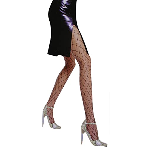 85e13fbfbcb Image Unavailable. Image not available for. Color  Big Cross Fishnet Tights  Fancy Spandex One Size Fits Mesh Stockings Hollow Out Pantyhose