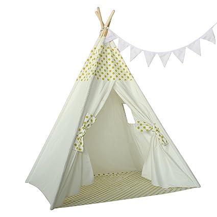 Amazon Com Ukadou Kids Teepee Tent For Girls Boys Children Bedroom