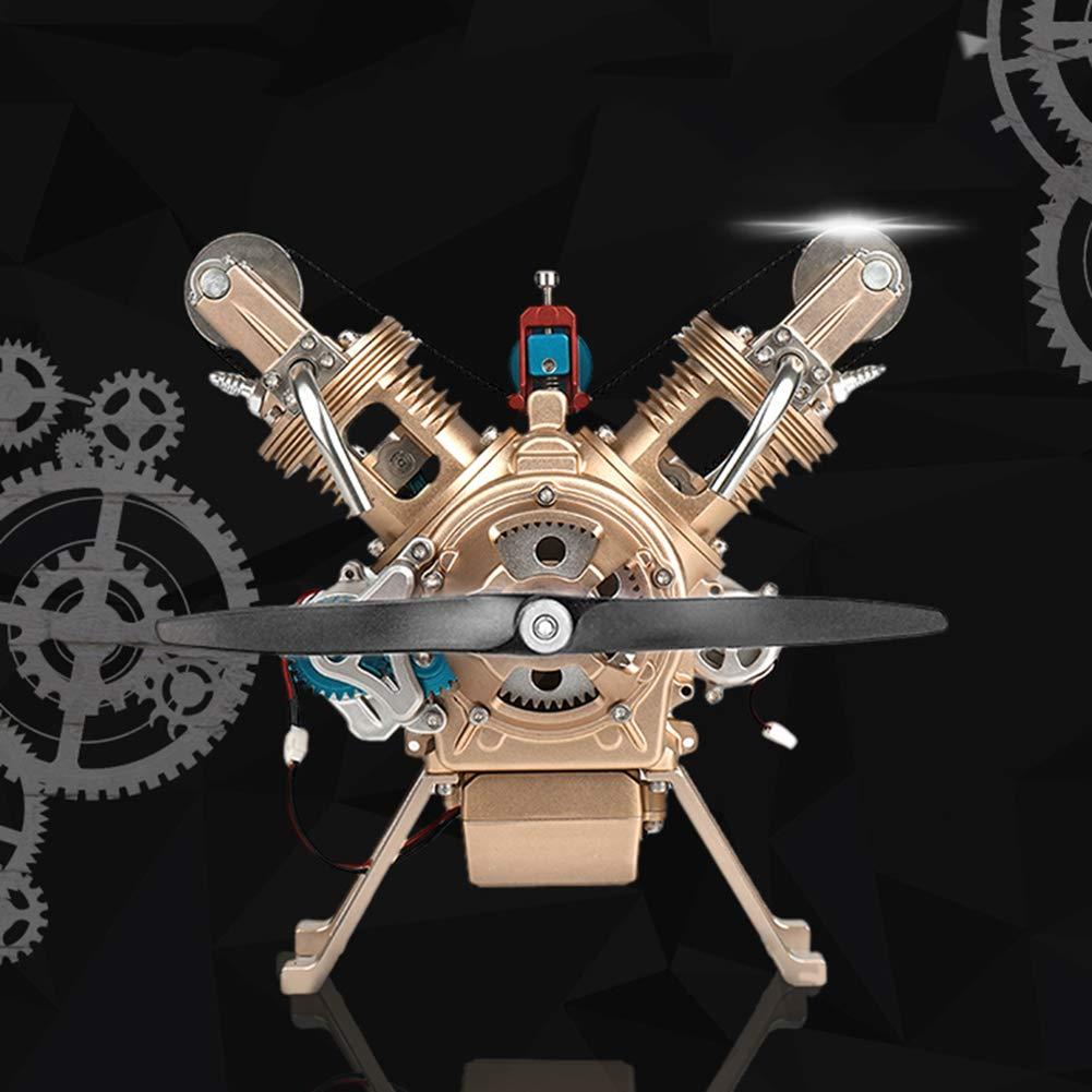 marcas en línea venta barata XIEJI V2 V2 V2 Motor bicilíndrico Modelo de Metal ensamblado a Mano. Adornos de Juguete Masculino Super simulación El Motor Puede ser lanzado Puede ser Utilizado como una colección de Adornos.  diseño único