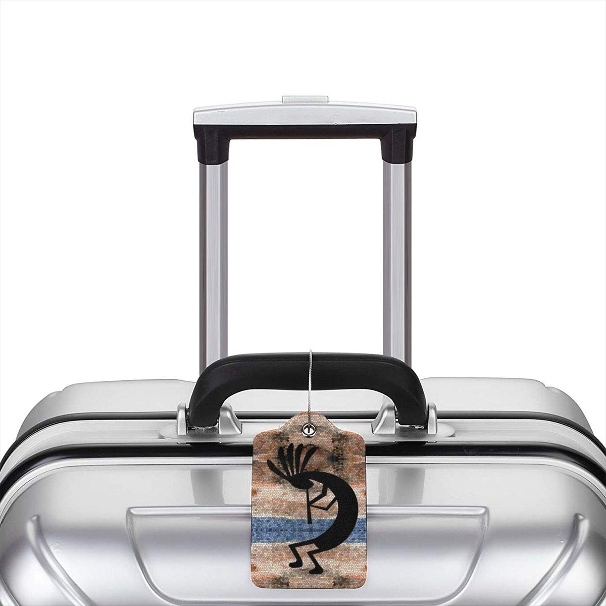 Leather Luggage Tag Kokopelli Southwest Desert Luggage Tags For Suitcase Travel Lover Gifts For Men Women 2 PCS