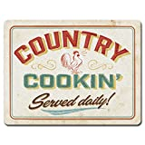 Highland Home Country Cookin Large Glass Cutting Board, 15 x 11.5 inches