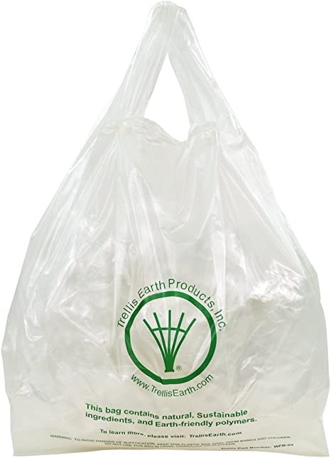 Enrejado tierra wfb-04 de bioplástico estándar camiseta bolsa, 12 ...