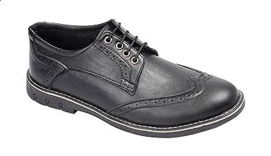 حذاء اوكسفورد وينج تيب جلد مخرم برباط للرجال من جرينتا