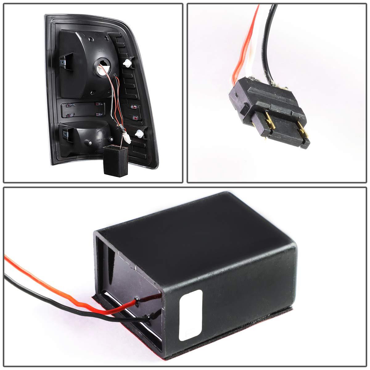 DNA Motoring TL-DRAM09-LED-3D-BK-SM-G2 Pair Black Housing Smoked Lens 3D LED Tail Lights 09-17 Dodge Ram