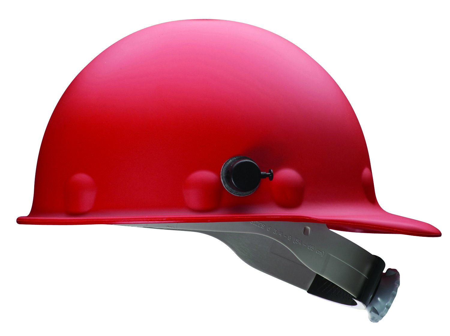 Fibre-Metal by Honeywell P2HNQRW15A000 Super Eight Fiber Glass Ratchet Cap Style Hard Hat with Quick-Lok, Red