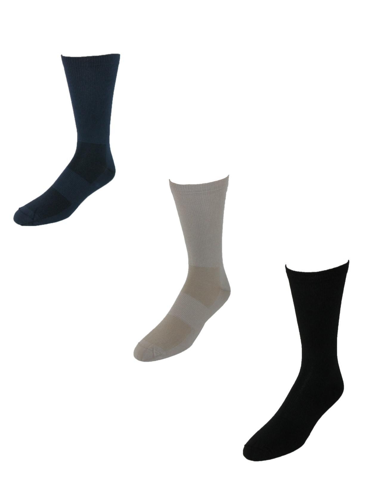 Tilley TA800 Dries Overnight Travel Socks (Pack of 3), Large, Black/Khaki/Navy