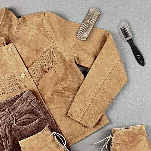 TelMo Ensemble brosse pour daim et nubuck Avec caoutchouc R abrasifs insert en laiton et brosse en caoutchouc