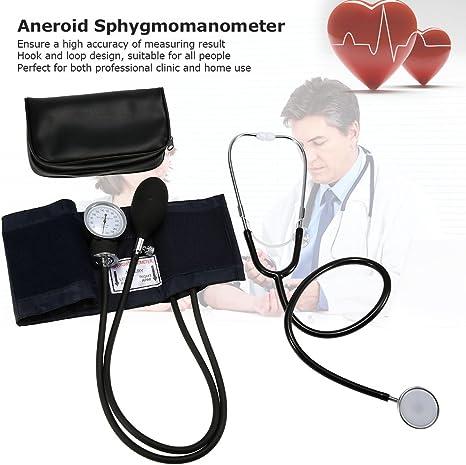 zroven Aneroide Manguito Kit superior del brazo del estetoscopio de la presión arterial con la cremallera del bolso para Adultos: Amazon.es: Belleza