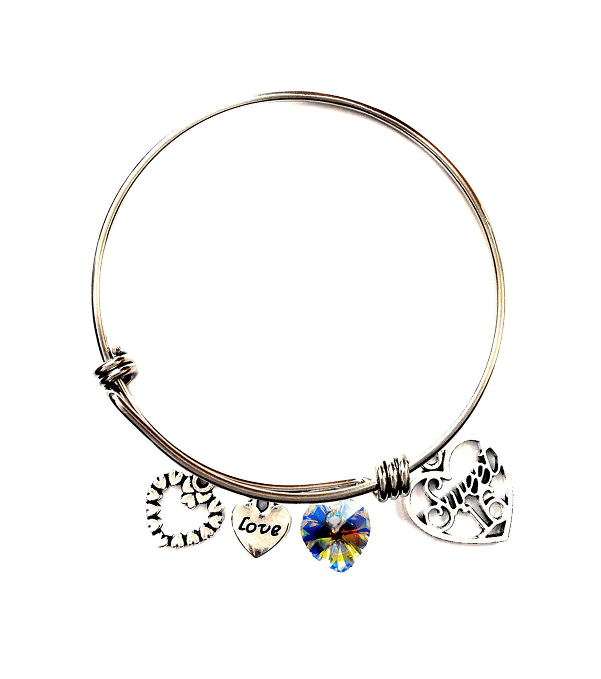 Amazon Sweet 16 Gifts Expandable Wire Bangle Bracelets With Crystal Stone Perfect Birthday Gift For Girls Sixteen Handmade