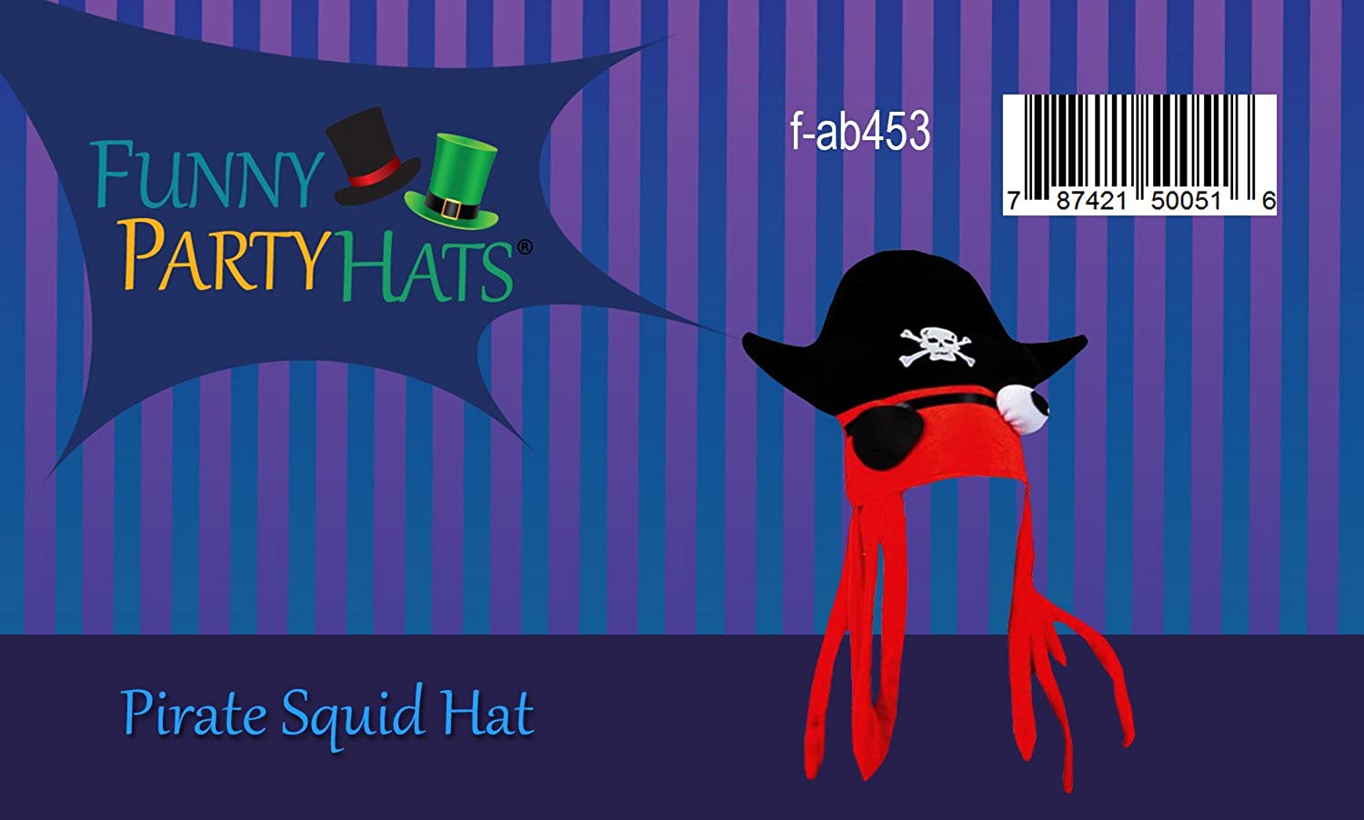 12760a23901 Amazon.com  Cool Pirate Squid Hat by Funny Party hats  Clothing