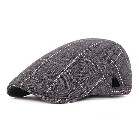 Shining-hat Chapelas para Hombre Boinas Gorra Plana Mujer Gorra ...