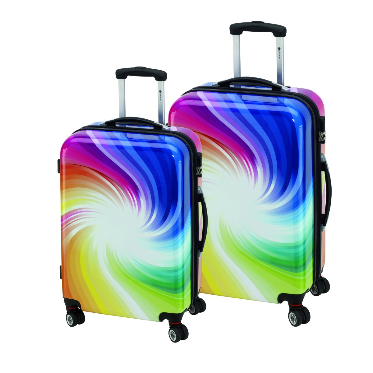 2-teiliges Trolley-Koffer-Set Reisekoffer Hartschale TWISTER Bunt sonstige