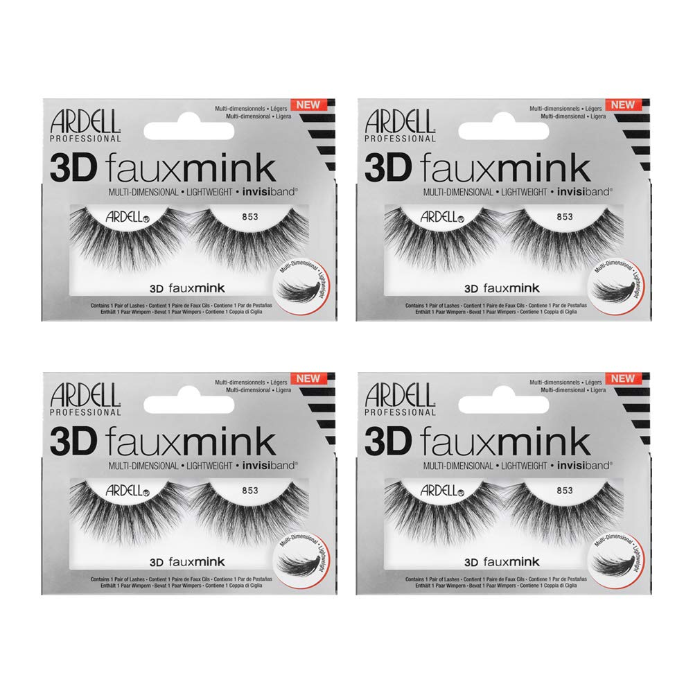 Ardell False Eyelashes 3D Faux Mink 853, 4 pairs