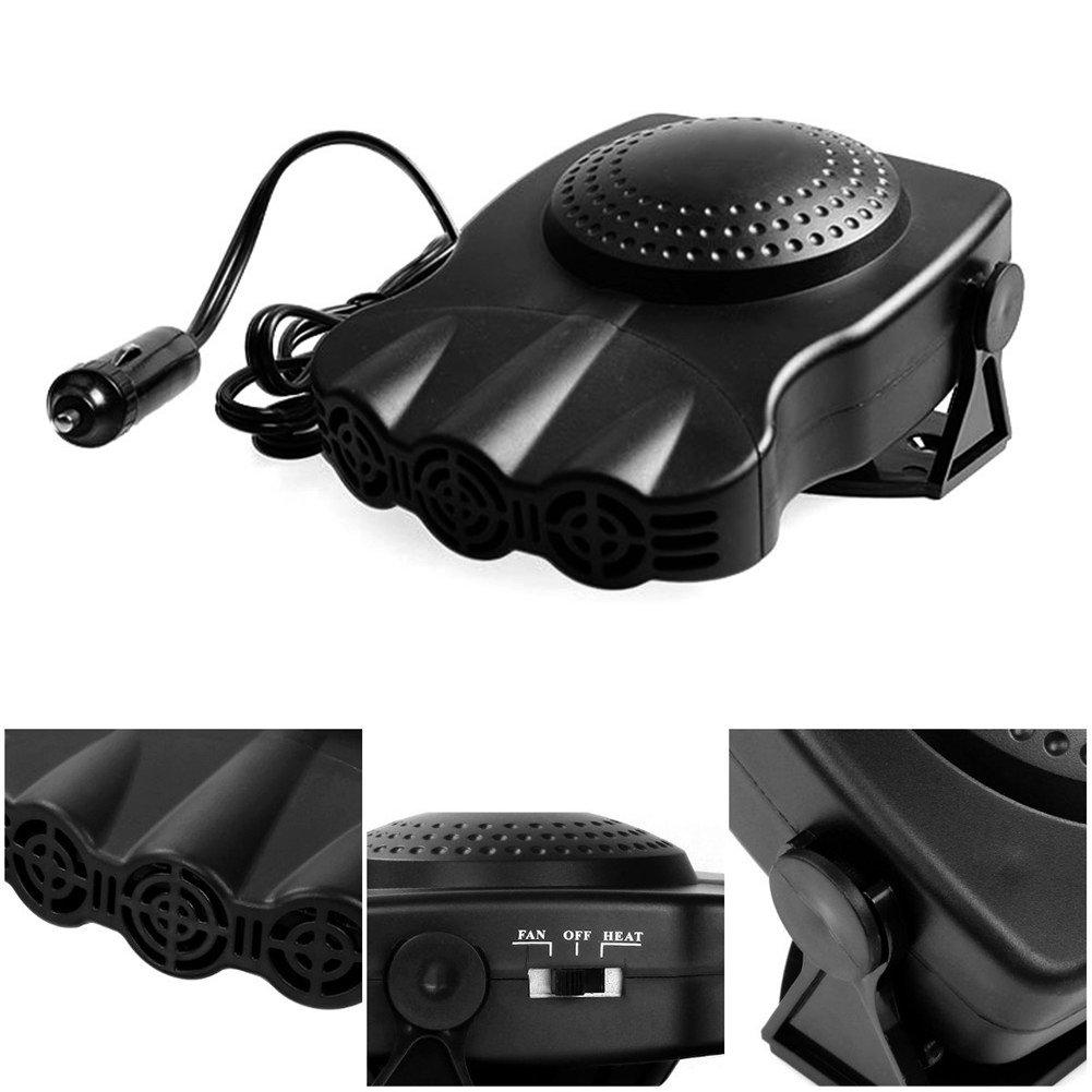 Auto Riscaldatore, Sundlight Termoventilatore per Auto 12V 150W Veicolo Riscaldamento Sbrinamenti Defogger Auto Ceramic Riscaldatore di Raffreddamento per Auto con Ventola, 6.69'x5.51'x1.57' 6.69x5.51x1.57