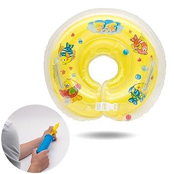 SPECOOL Baby Infant Kids Inflable Ajustable Anillo de Baño de Seguridad Flotador de Seguridad de Seguridad